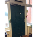 Old police station door
