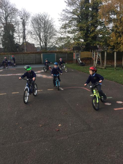 Mrs Hesketh's class loved their 'wheels day' treat for winning the most EPIC tokens!