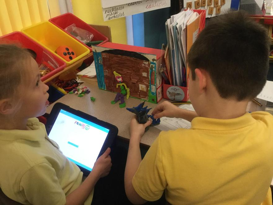 ianimate - character building then recording our animations.