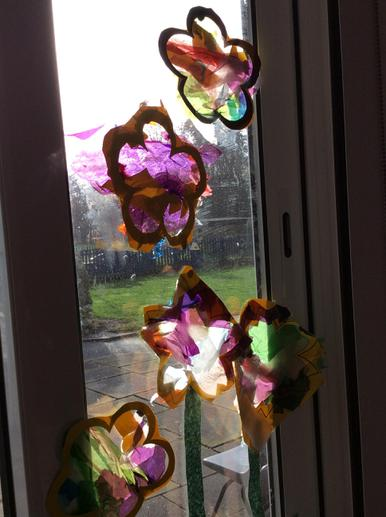Year 1 Flower Collages