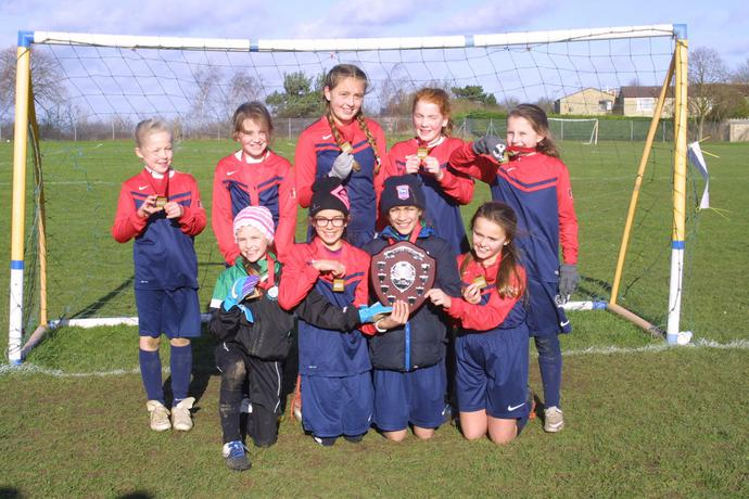 Six girls from Year 6 were on the winning team
