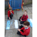 We enjoyed using chalks to make winter pictures.