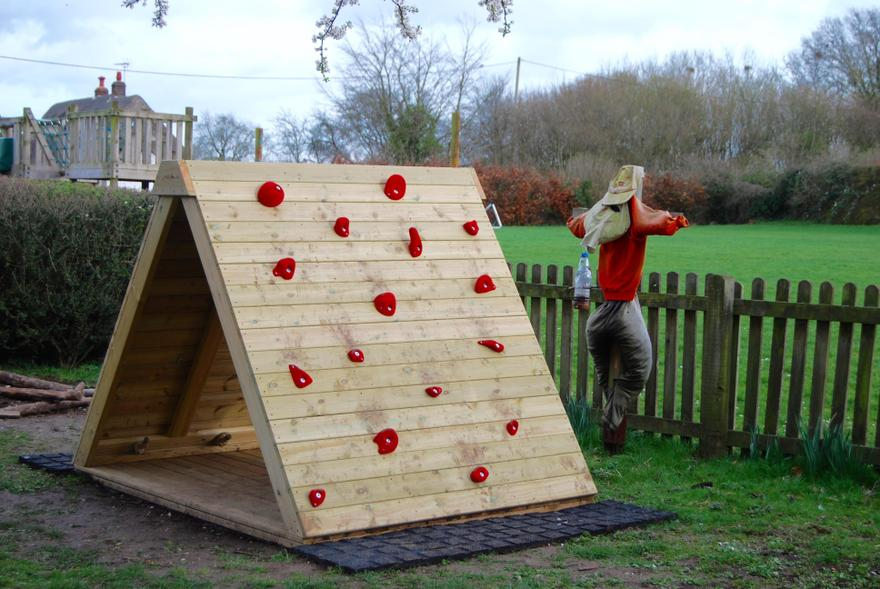 Our new climbing wall 2019
