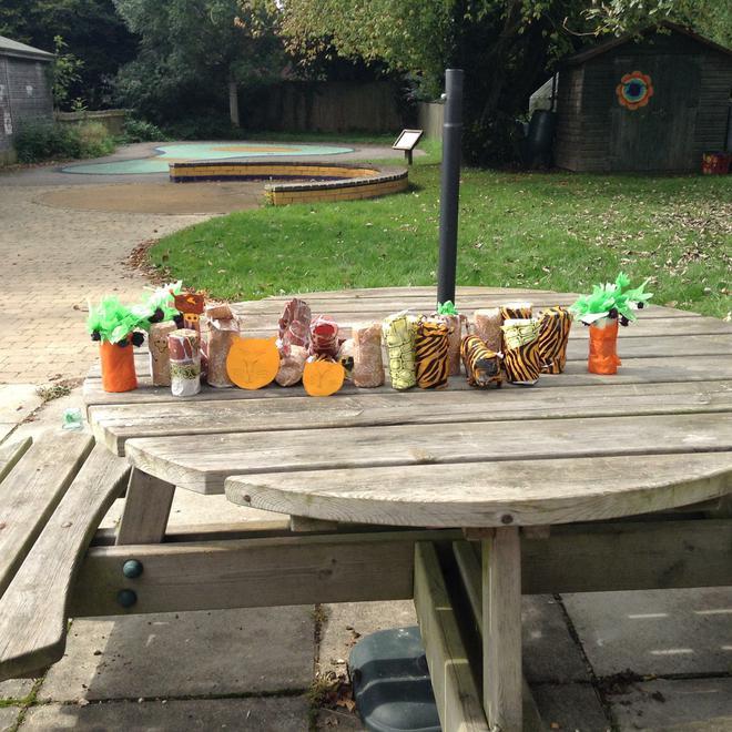 We enjoyed creating these rain sticks!