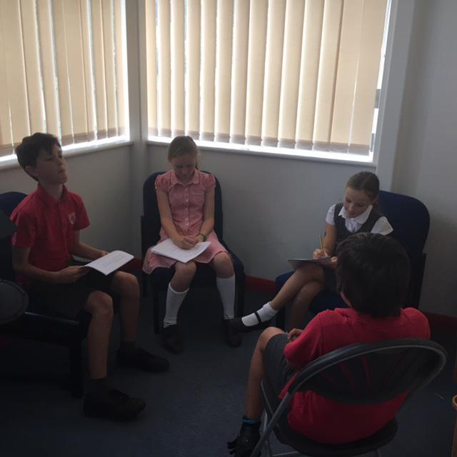 Interviewing new team members September 2016