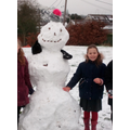 Some of the snowmen were huge!