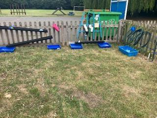 Our water play area