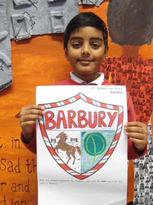 Suraj R with Barbury House flag