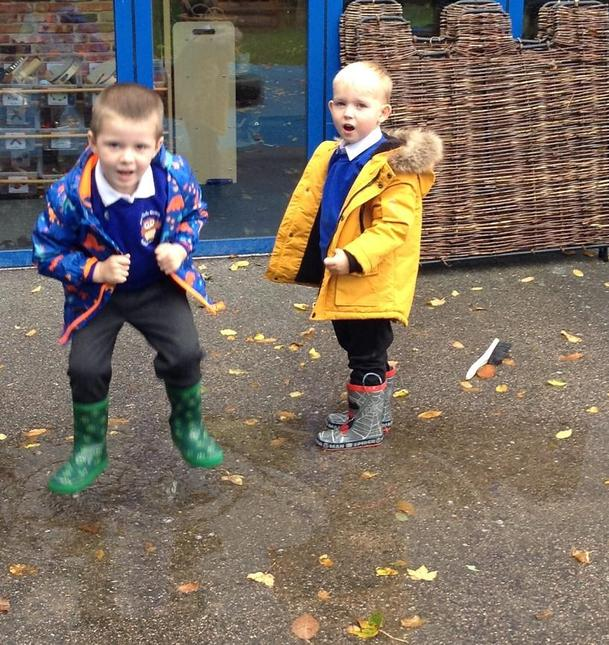 We explorer outside, no matter what the weather!
