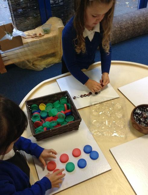 We have open ending activities with loose parts.