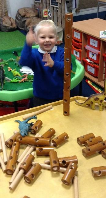 We use size vocabulary & compare heights of towers