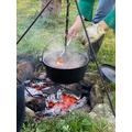 A campfire tea