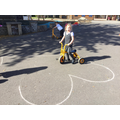 Outdoor Maths in Reception - Cycling around numbers