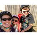 Gillman family bike-riding