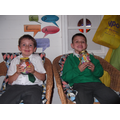 Proud Year 2 pupils with their Dream Jars.
