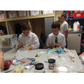 Year 6 making Dream Jars.