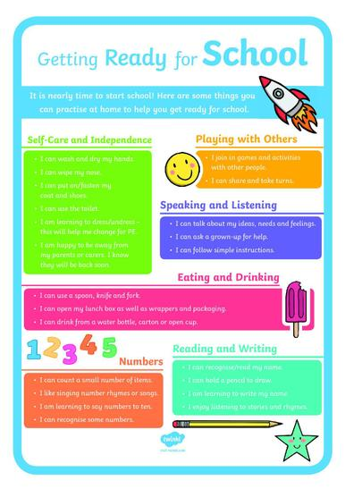School readiness poster