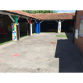 Foundation Stage playground including a sandpit.