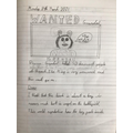 Alys created a fantastic 'wanted' poster for Grendel!