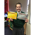 Well done Ava who over lockdown got her Gold and Platinum times tables award!