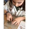 Making hearts using clay