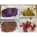 We have been exploring adding different materials to paint to create different textures.