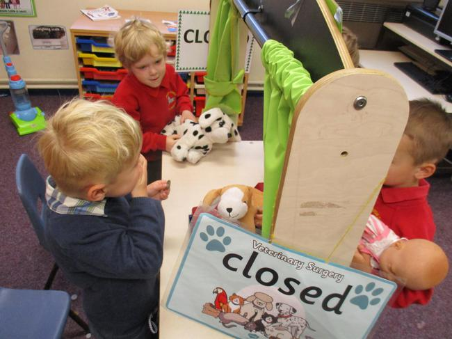 Vet's role play area