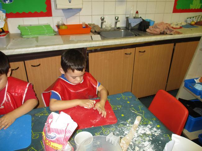We moulded the salt dough.
