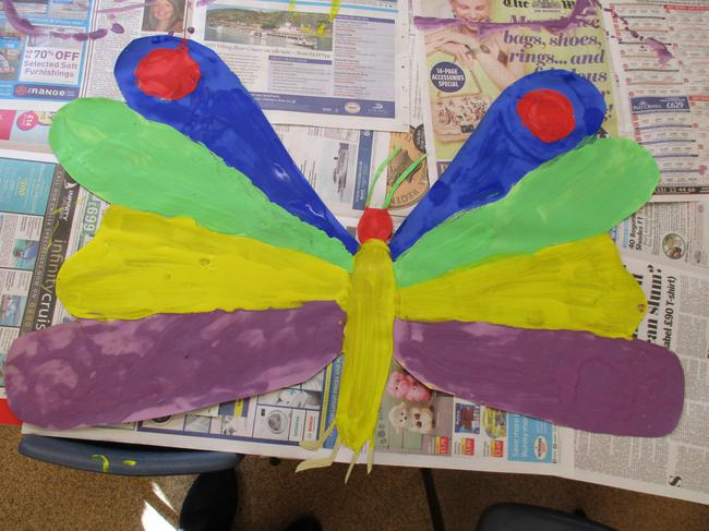 Our group butterfly painting!