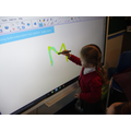 Name writing on the smartboard!