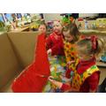 Painting Santa's sleigh