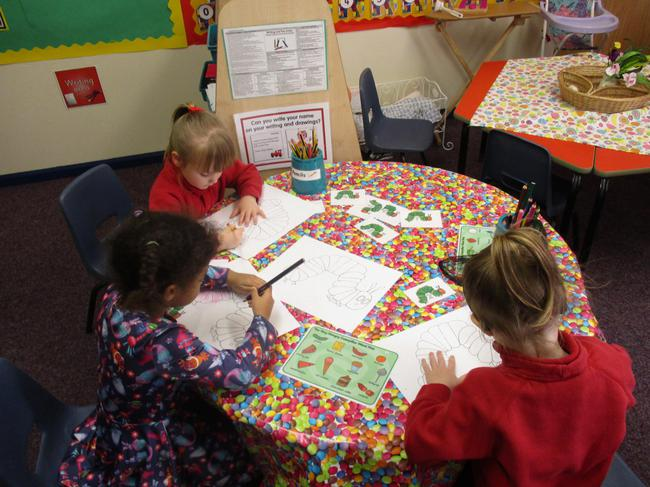 The Very Hungry Caterpillar colouring