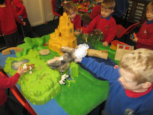 We told 'The 3 little pigs' story