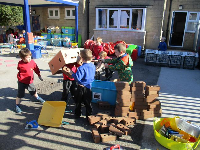 and the building site!