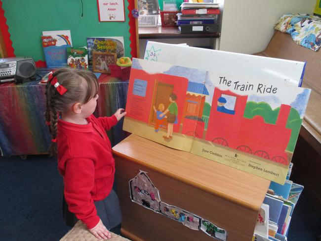 We read a book called 'the train ride'