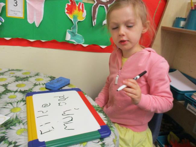 Writing words!