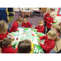 Christmas maths activities - playdough