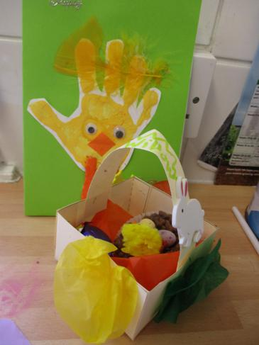 Our lovely Easter card and basket we have made!