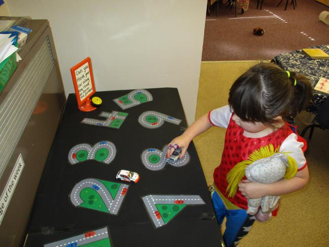 Forming numbers using cars!