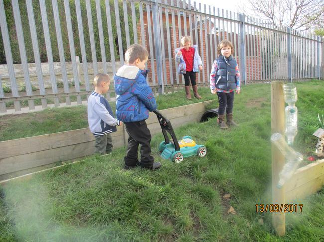 Exploring our Nursery garden
