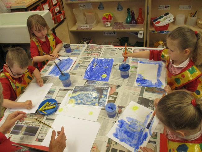 Our version of the Starry Night painting