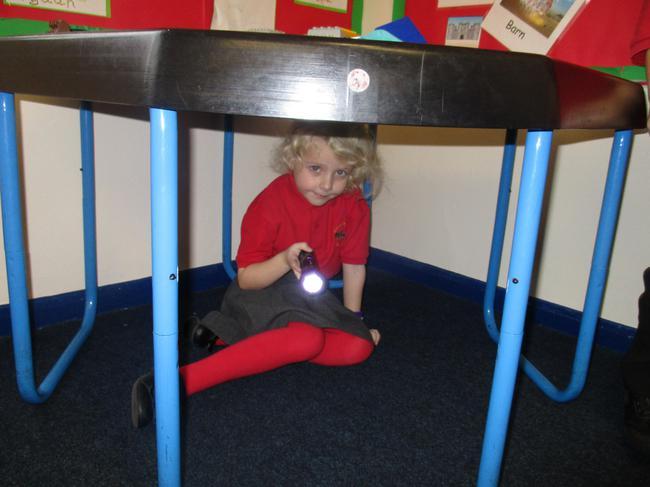 Using torches we explored dark places.