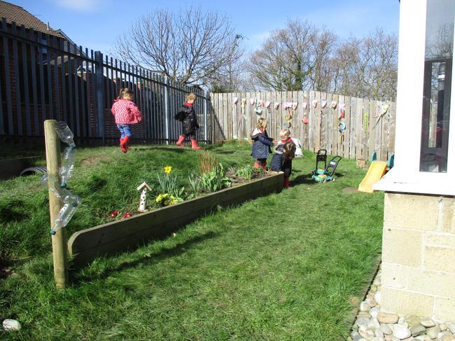 Exploring the garden area!