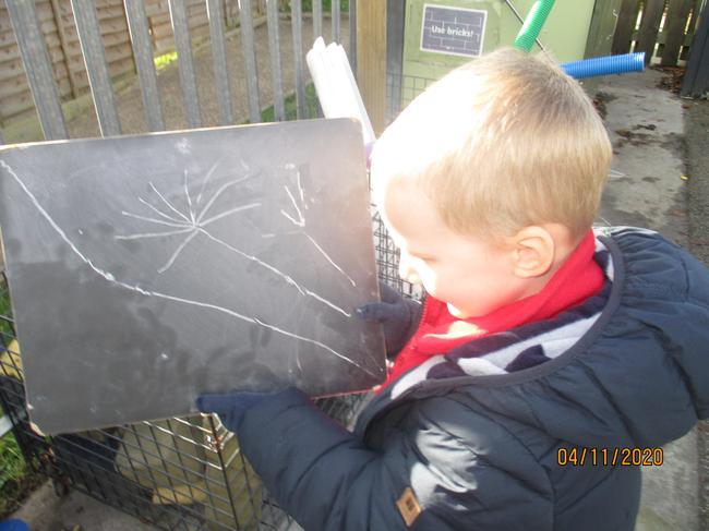 mark making outside