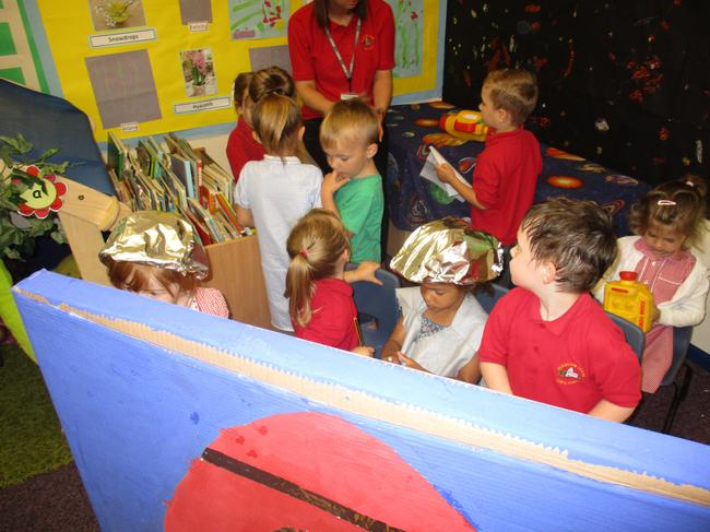 Space rocket role play area!