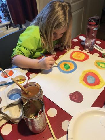 Hope's Kandinsky art work.