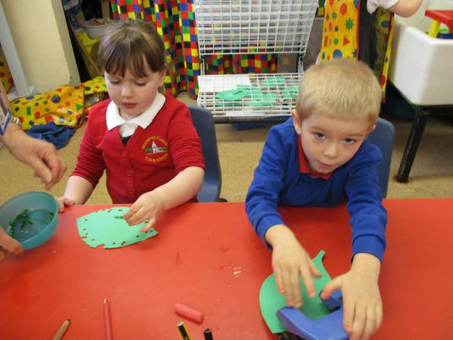 Has the caterpillar been eating our leaf?
