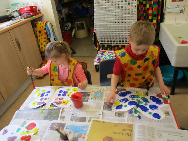 Learning about symmetry - butterfly painting.