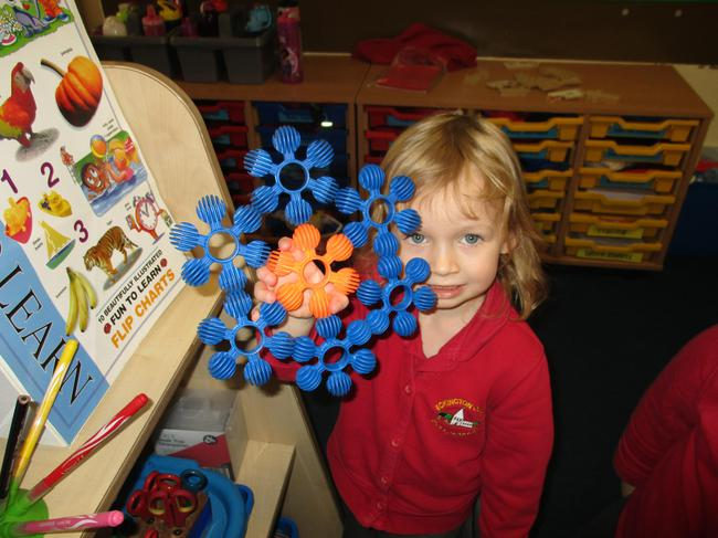 We made snowflakes.