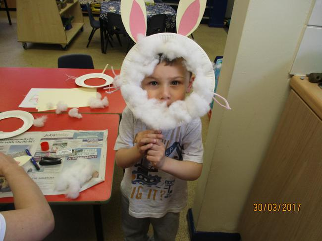 Preparing for Easter.....Harley the Easter Bunny!